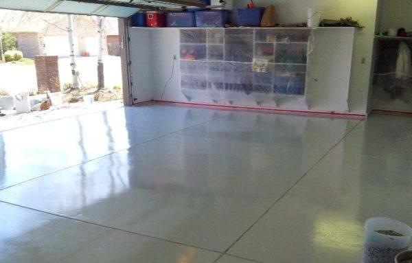 Наливной пол для гаража своими руками