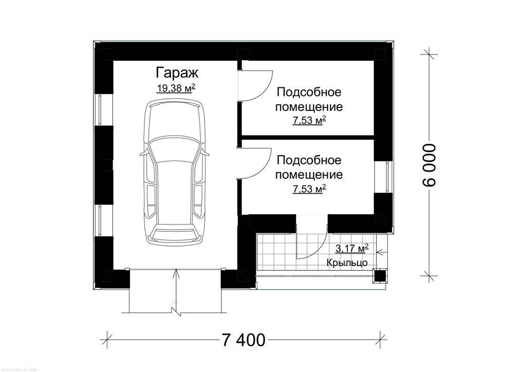 Дом с гаражом - 4 разновидности, стоимость постройки, плюсы и минусы