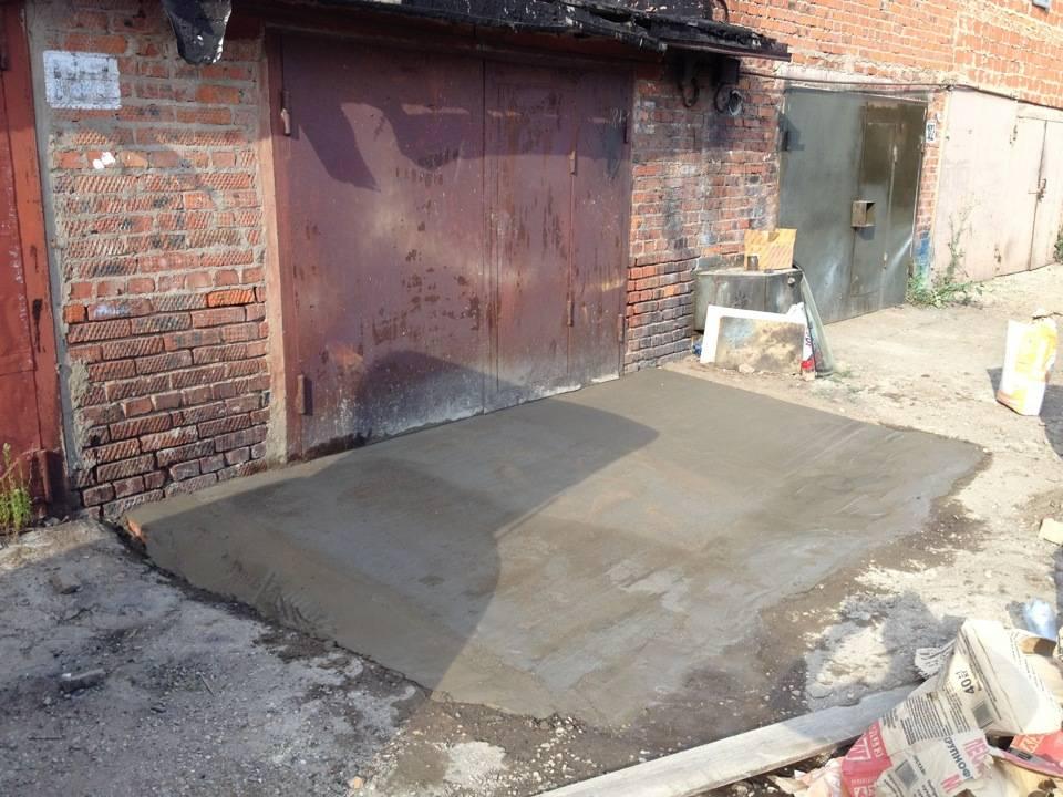 Бетонный пол в гараже: как сделать, какие использовать материалы