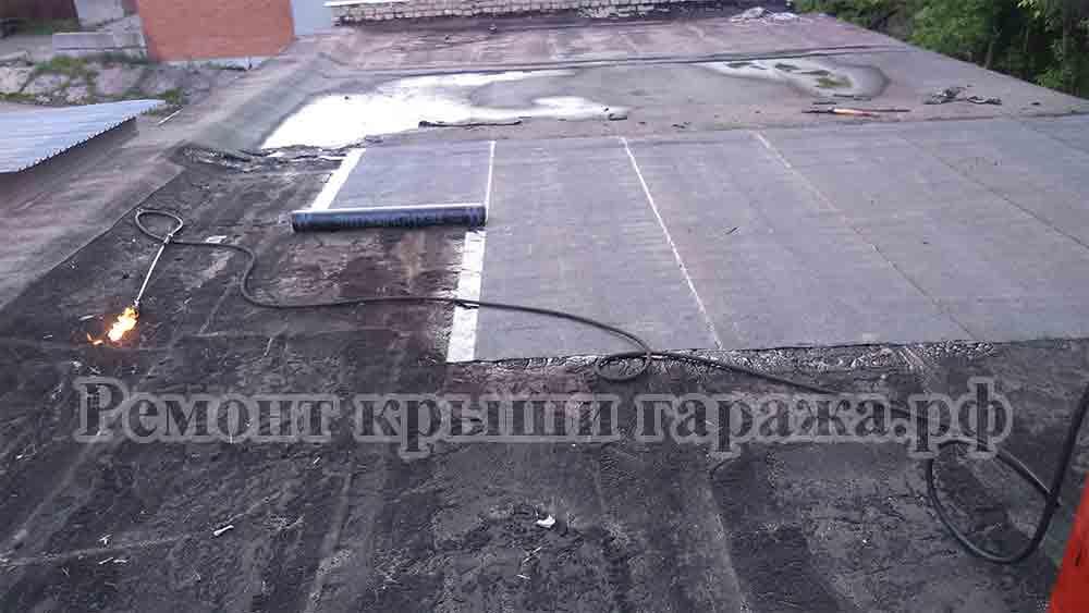 Ремонт крыши гаража в гаражном кооперативе