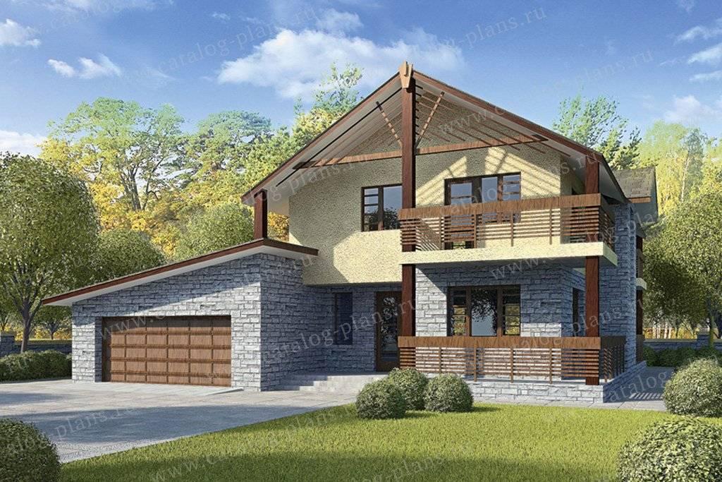 Дом с гаражом и навесом: 3 варианта размещения постройки