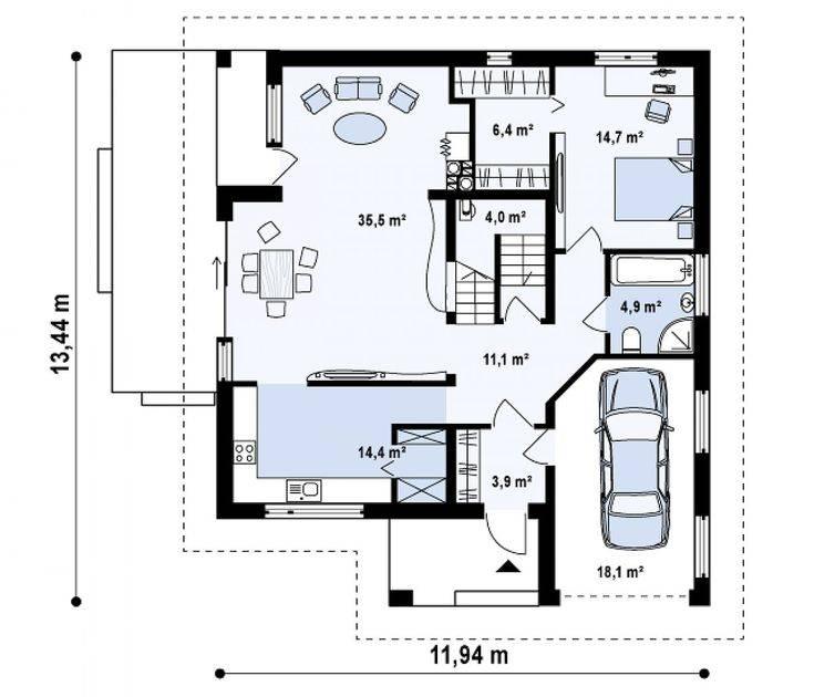 Одноэтажный дом с мансардой: проекты, фото лучших идей и советы специалистов