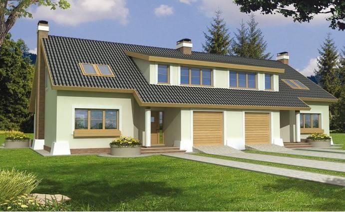 Проекты домов с гаражом под одной крышей - одноэтажных и двухэтажных, в том числе с мансардой