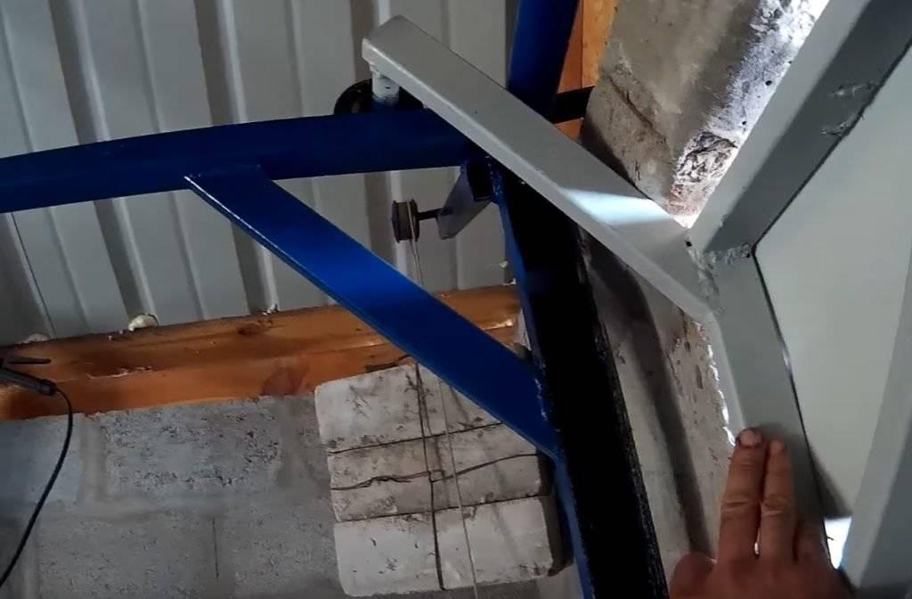 Складывающиеся ворота для гаража своими руками