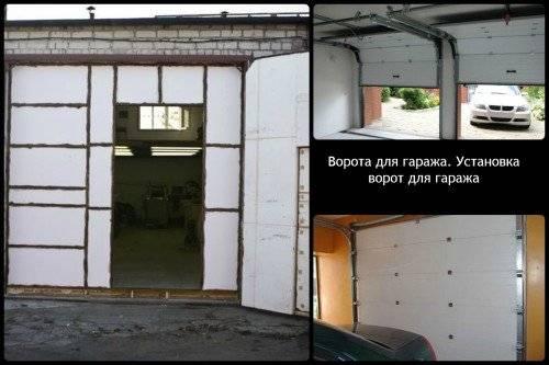 Проведение ремонта гаражных ворот