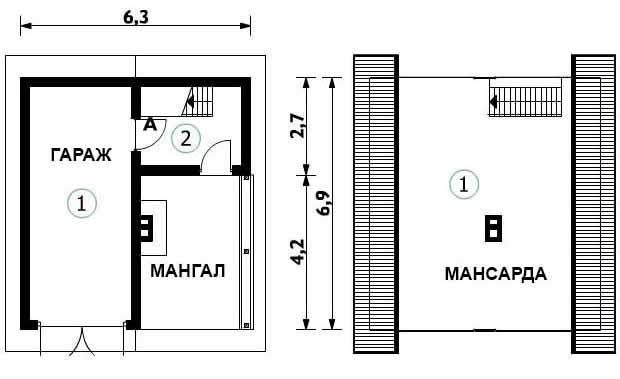 Двухэтажный гараж своими руками: пошаговая инструкция строительства двухэтажного гаража, идеи оформления и планировки