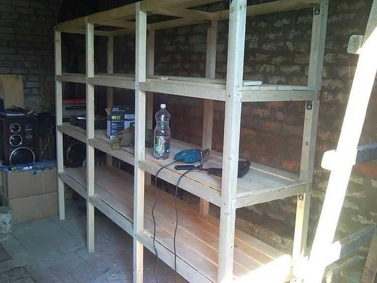Стеллаж в гараж своими руками: варианты обустройства и особенности изготовления мебели для гаража
