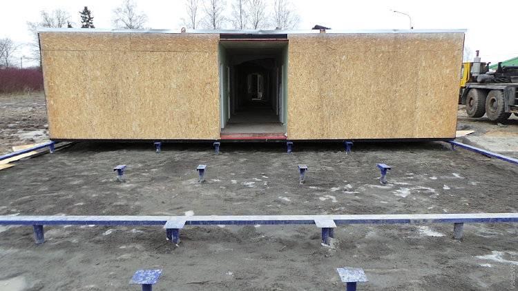 Быстрое строительство гаража на винтовых сваях своими руками: этапы работы и фото
