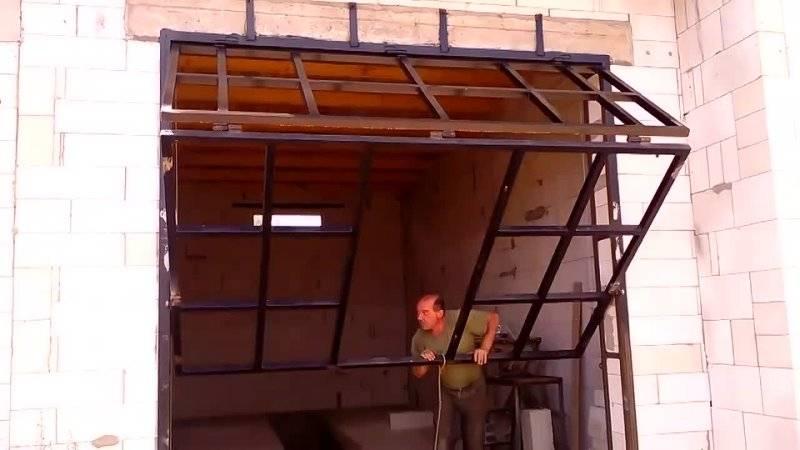 Подъемные гаражные ворота своими руками - пошаговая инструкция с чертежами, фото и видео подъемные гаражные ворота своими руками - пошаговая инструкция с чертежами, фото и видео