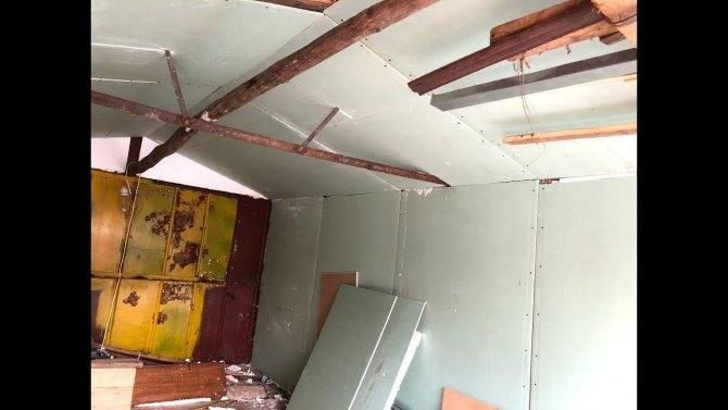 Как утеплить потолок в гараже: чем можно подшить изнутри потолочное перекрытие недорого своими руками, фото