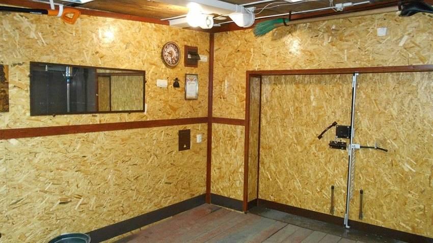 Внутренняя отделка стен гаража своими руками