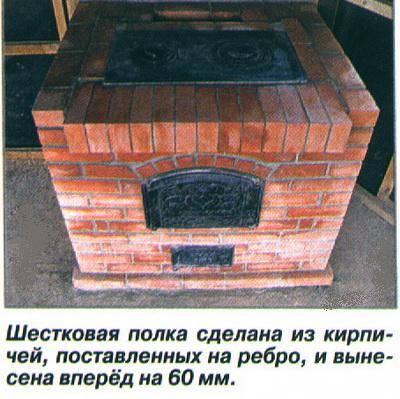 Самая простая печь из кирпича своими руками, как именно сложить, порядовка простейшей кирпичной печки для дачи, особенности кладки