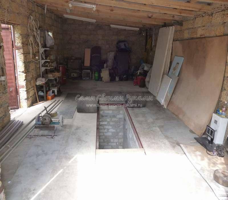 Пол в гараже своими руками