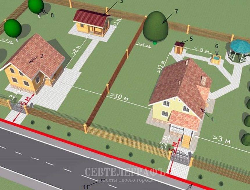 Можно ли построить гараж на красной линии