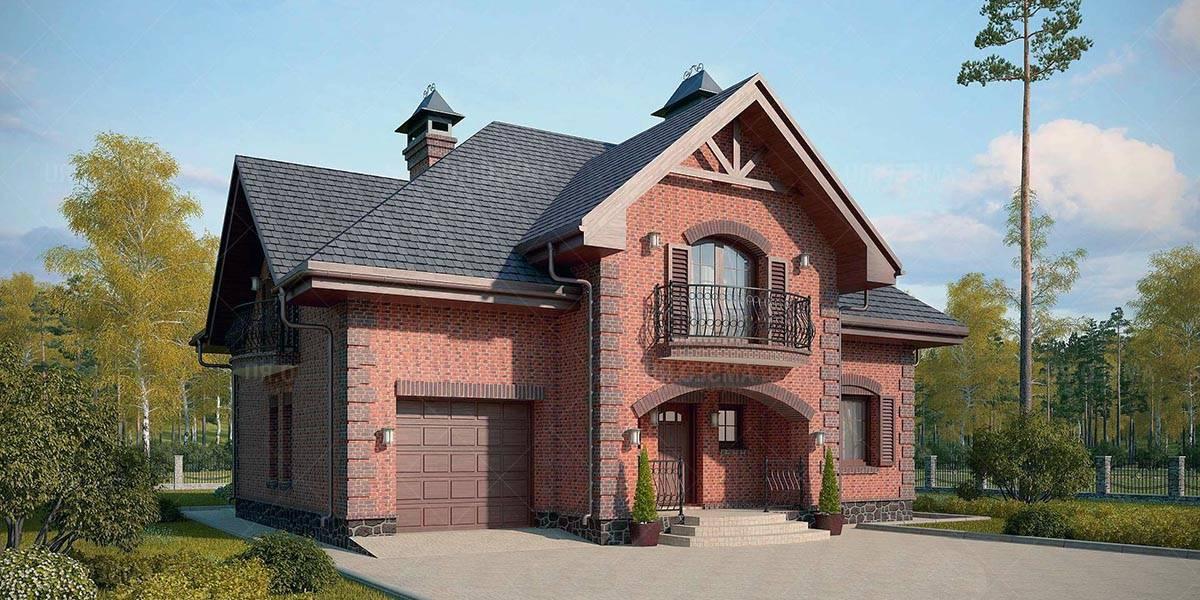 100 вариантов: одноэтажный дом с гаражом на фото