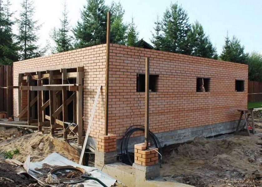 Сколько стоит построить гараж из кирпича?