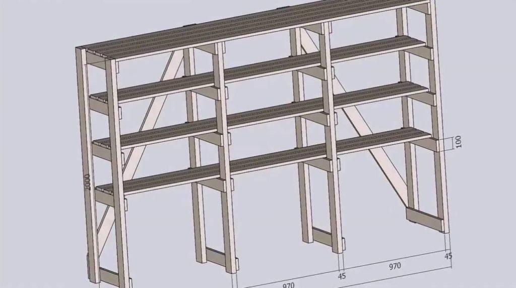 Полки в гараже своими руками: пошаговая инструкция