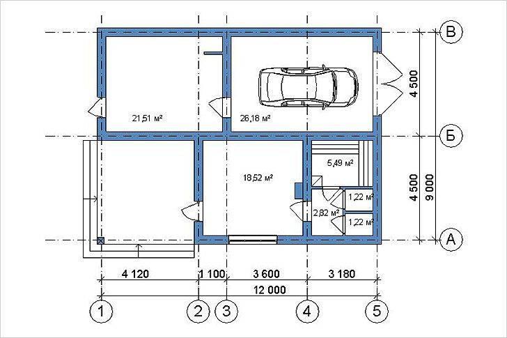 Баня с гаражом под одной крышей: проекты и общие рекомендации
