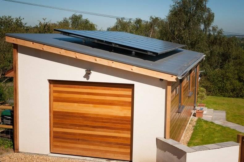 Как сделать крышу на гараже: пошаговое строительство односкатной кровли своими руками, как правильно построить на пристроенном каркасном гараже, устройство плоской крыши, фото-материалы
