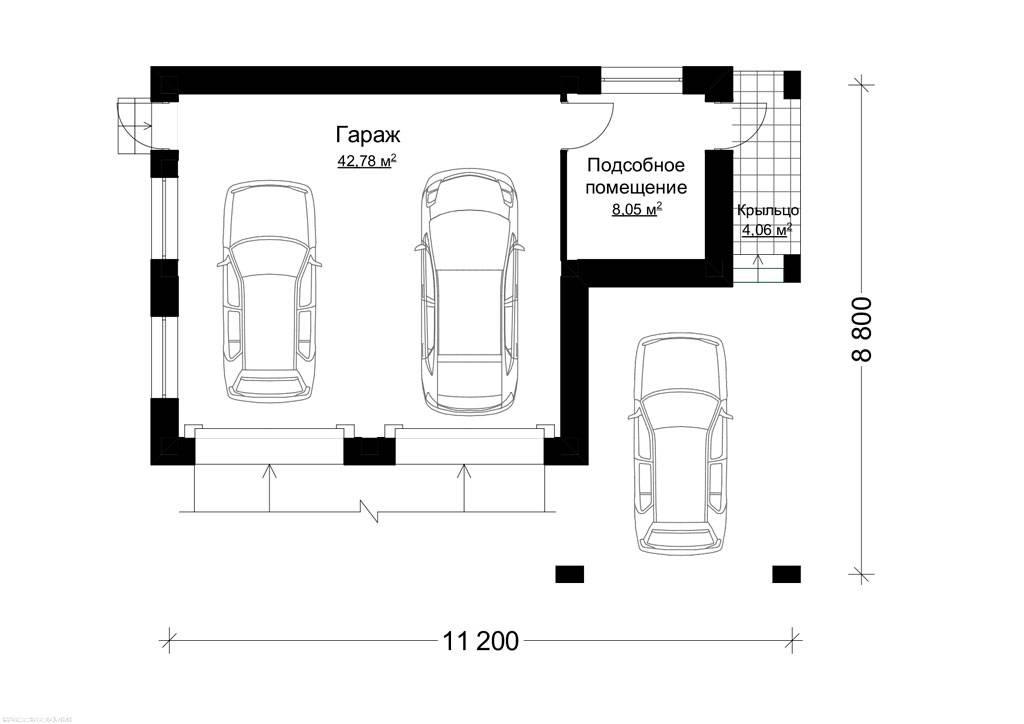 Дом с гаражом: 4 варианта проекта