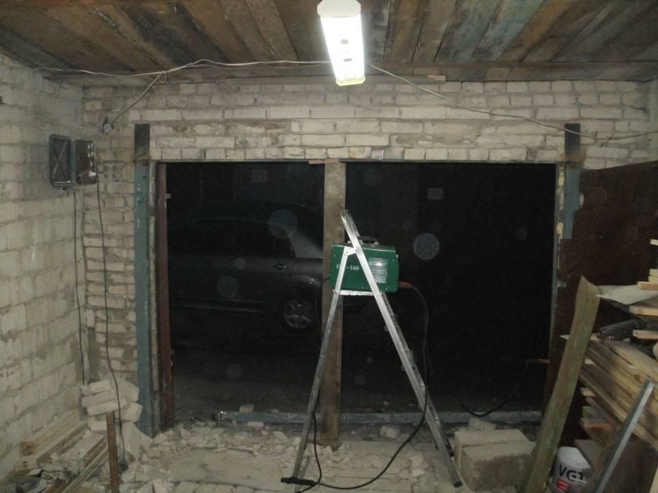 Как поднять гаражные ворота на один кирпич. как поднять гаражные ворота своими руками