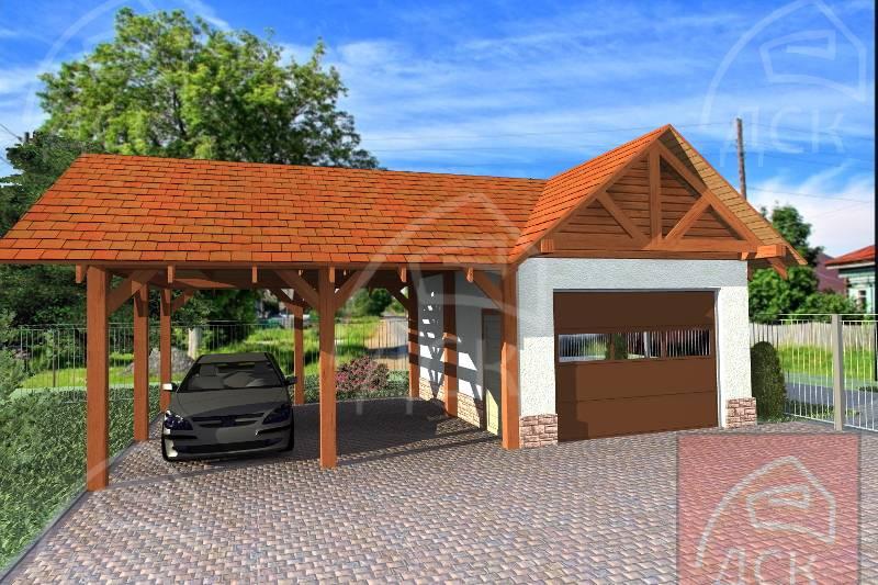 Выбор проекта и строительство навеса гаражного, фото обзор пристроек - roomgood.ru
