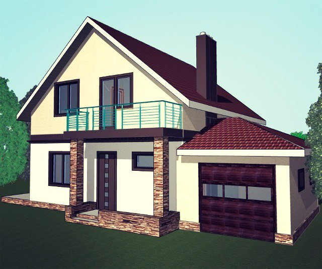 Строим двухэтажный коттедж с подвалом и гаражом
