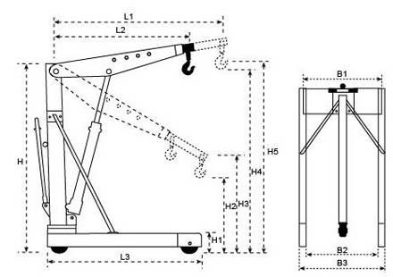 Кран для снятия двигателя своими руками, чертежи - mtz-80.ru