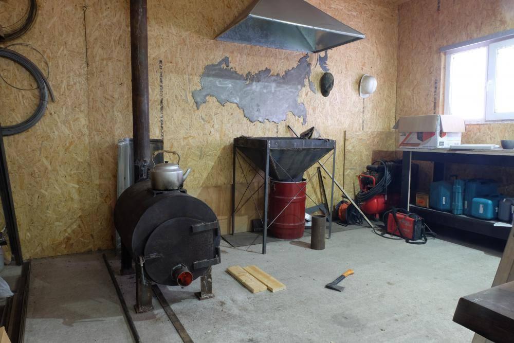 Как сделать печку для гаража своими руками: 20 фото с этапами работы и примерами конструкций