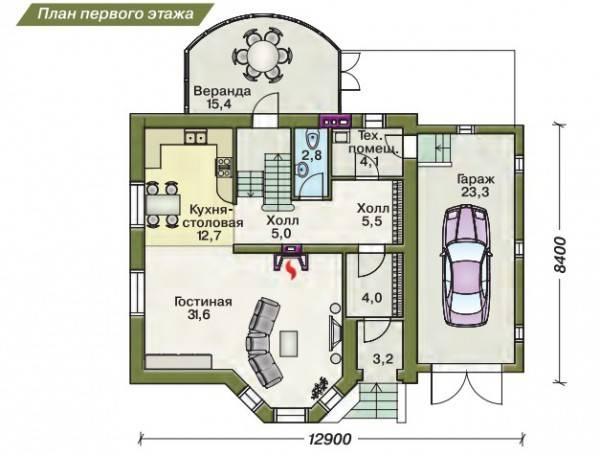 Проекты домов с мансардой и гаражом (66 фото): планы мансардных домов площадью 150 кв. м из пеноблоков под одной крышей с гаражом