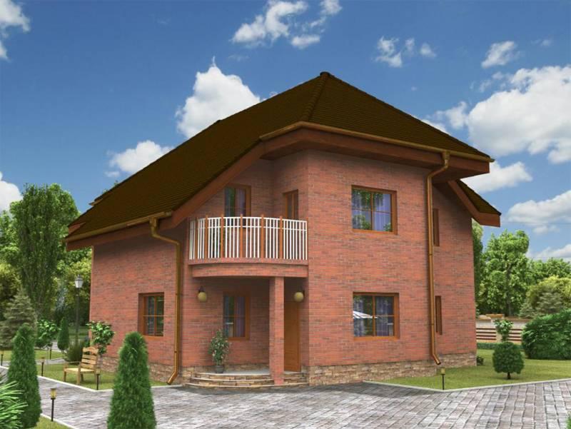 Проекты домов из кирпича. типовые проекты кирпичных коттеджей и домов