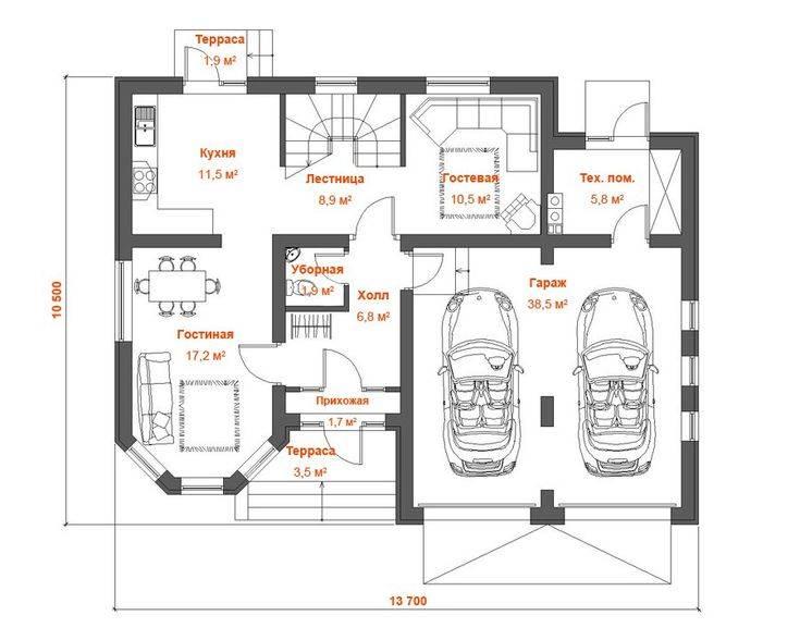 Дом с гаражом в цокольном этаже: выбор проекта, особенности | погреб-подвал