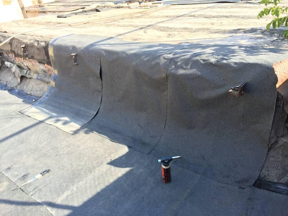Кровля крыши гаража бикростом