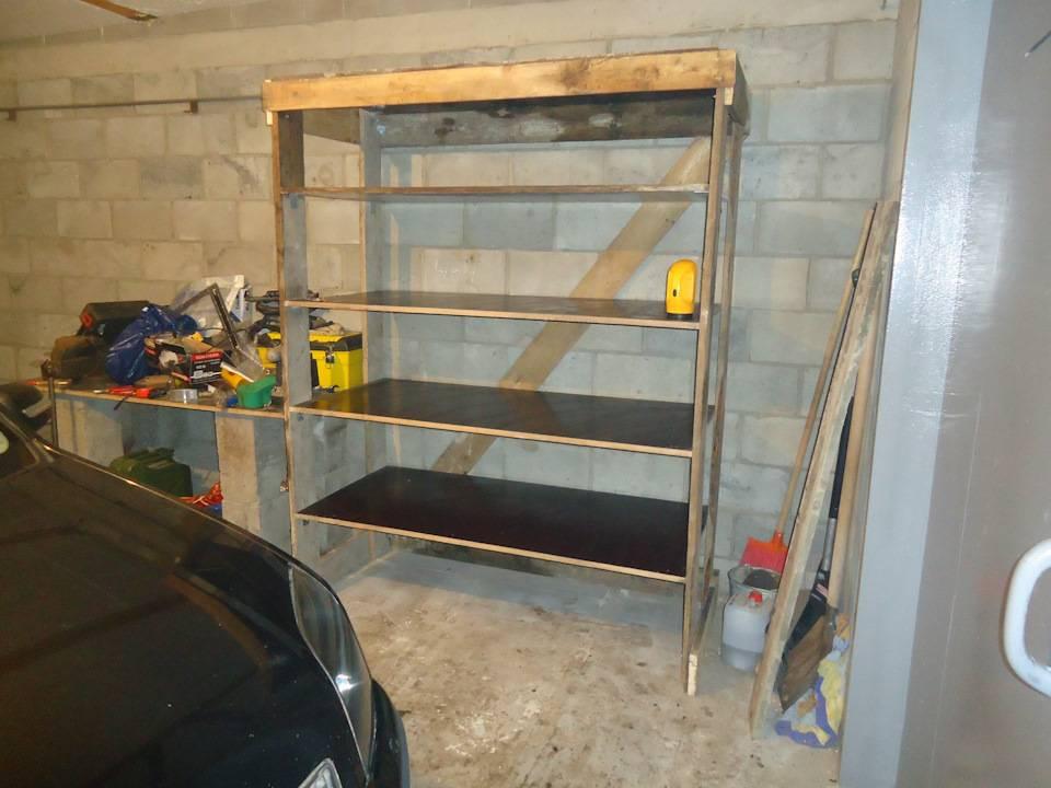 Полки в гараже: порядок прежде всего. инструкция изготовления своими руками