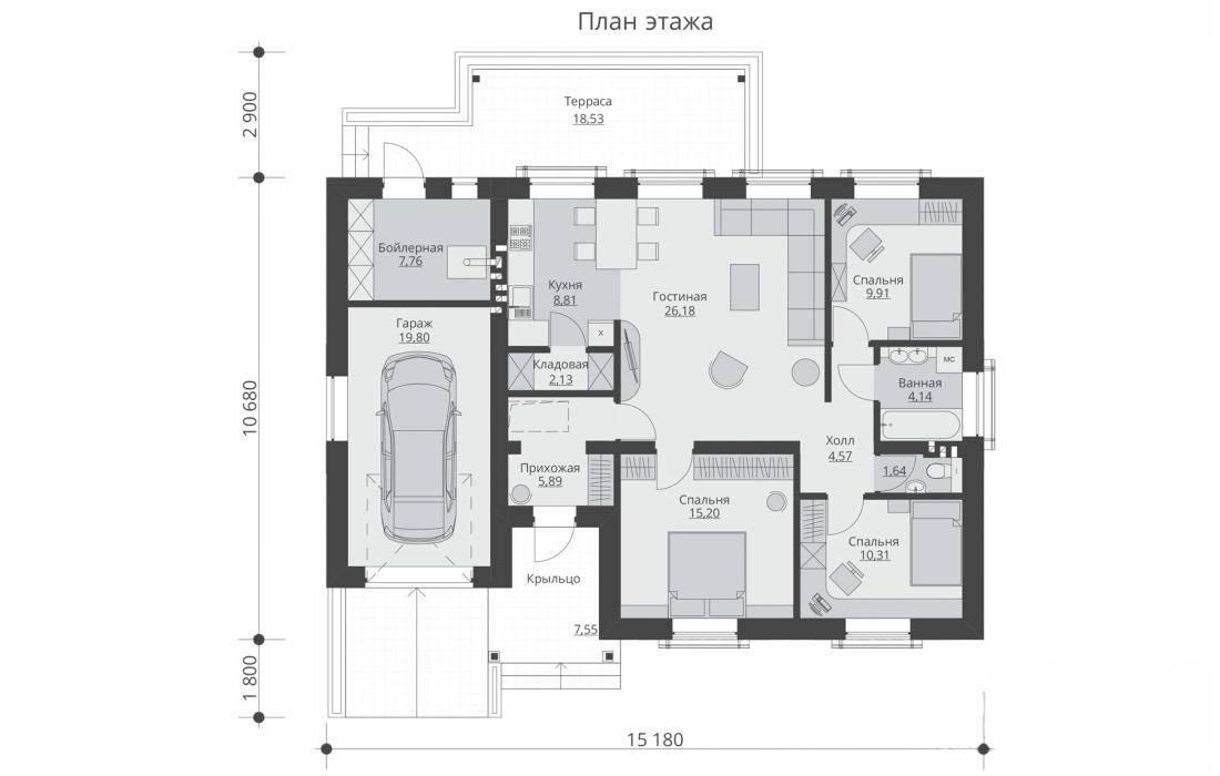 Проекты домов с гаражом под одной крышей: красивые и практичные идеи | ремонт и строительство дома