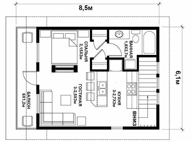 Проект дома 2 этажа с гаражом: планировка, размеры и готовые планы коттеджей с гаражом