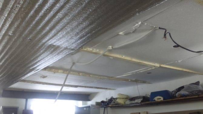 Утепление потолка пенопластом в гараже: как это делается