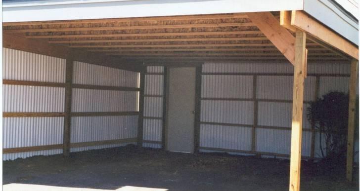 Проекты гаражей с навесом: особенности выбора