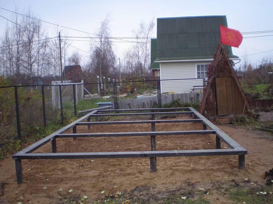 Фундамент под гараж своими руками: подготовка подушки, как залить, пошаговая инструкция, фото, видео