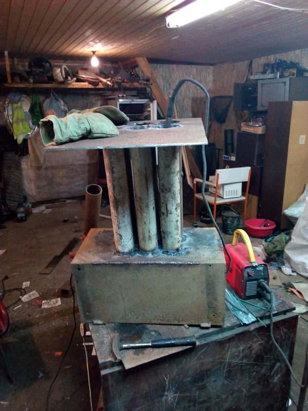 Печь для гаража своими руками