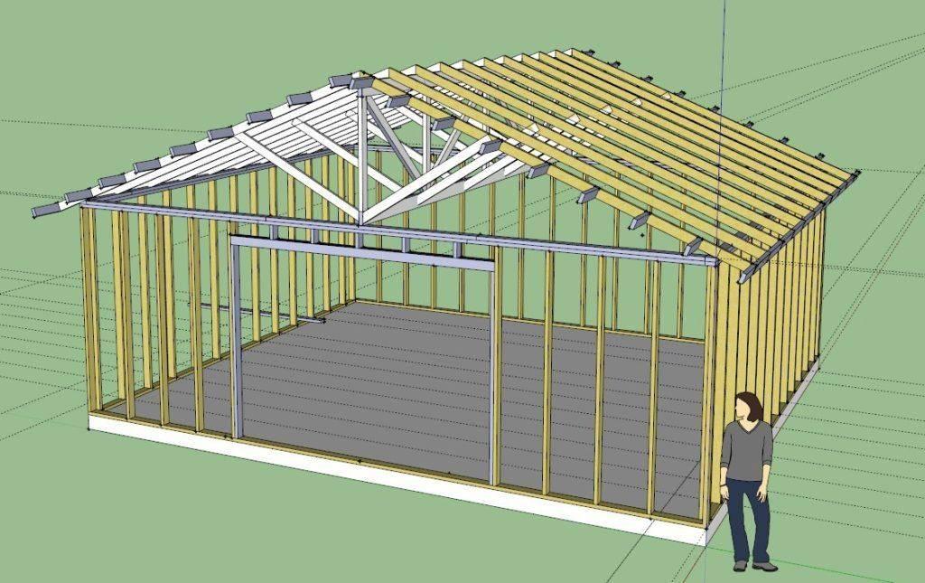 Каркасный гараж своими руками: бюджетное строительство. фото и видео