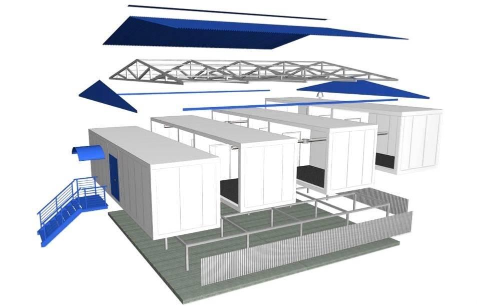Строим гараж из сэндвич панелей
