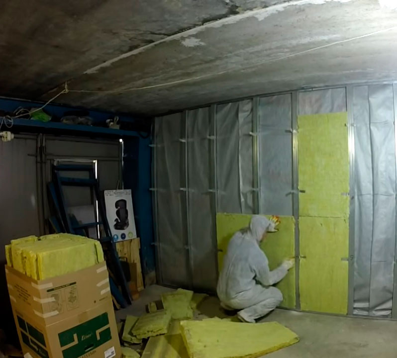 Как утеплить гараж изнутри и снаружи – теплоизоляция стен, пола, потолка