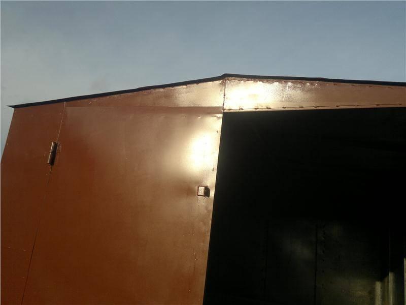 Как покрасить гараж своими руками внутри и снаружи: ворота и стены: описание процесса +видео и фото