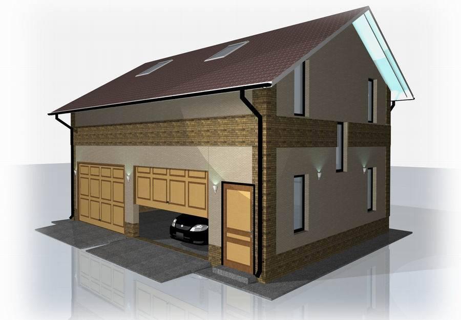 Как построить дом с гаражом - 120 фото вариантами и инструкциями!