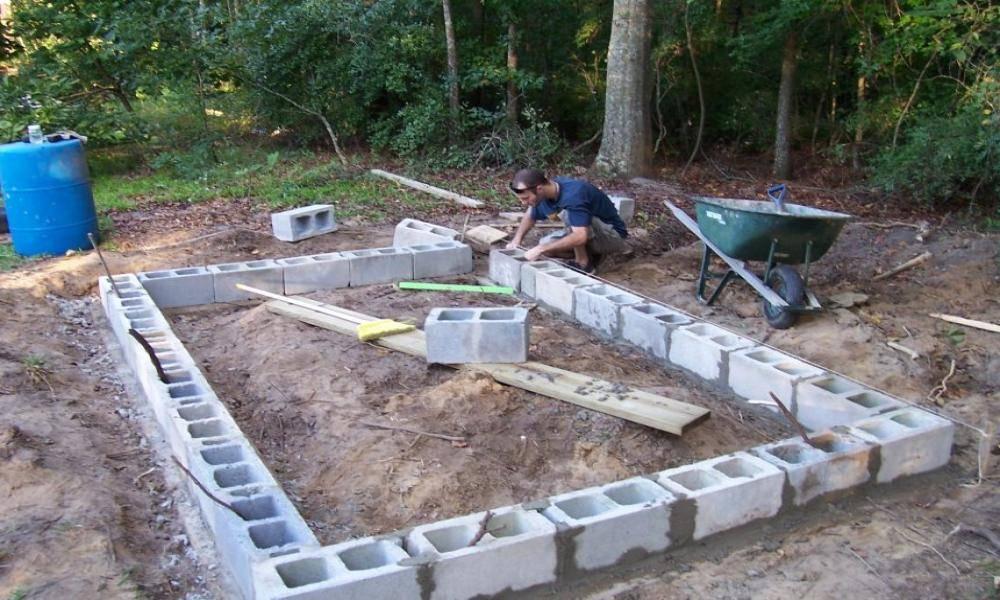 Плитный фундамент своими руками пошаговая инструкция под гараж из пеноблоков: расчет, глубины, мелкого заложения, разметка, пластовый дренаж
