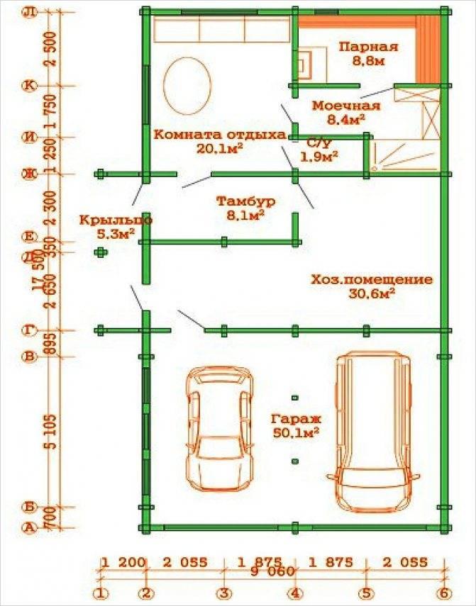 Гараж с хозблоком под одной крышей (29 фото): проекты и планы сараев с гаражом на 1 и 2 машины, баней и навесом. делаем своими руками для дачи