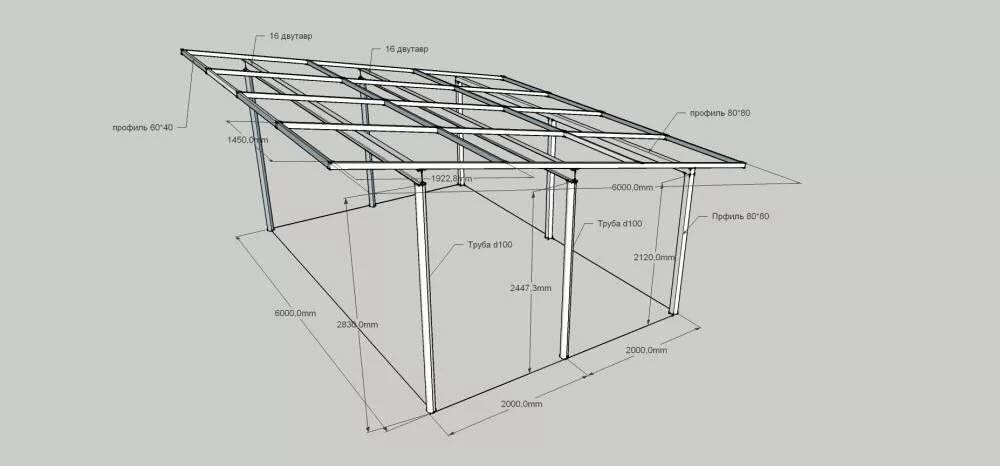 Гараж из металопрофиля: технология установки и сборки