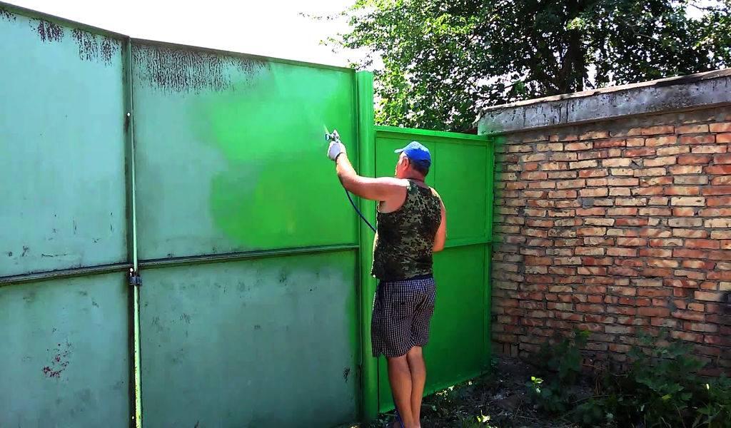 Покраска гаража внутри своими руками: какую краску лучше использовать? советы