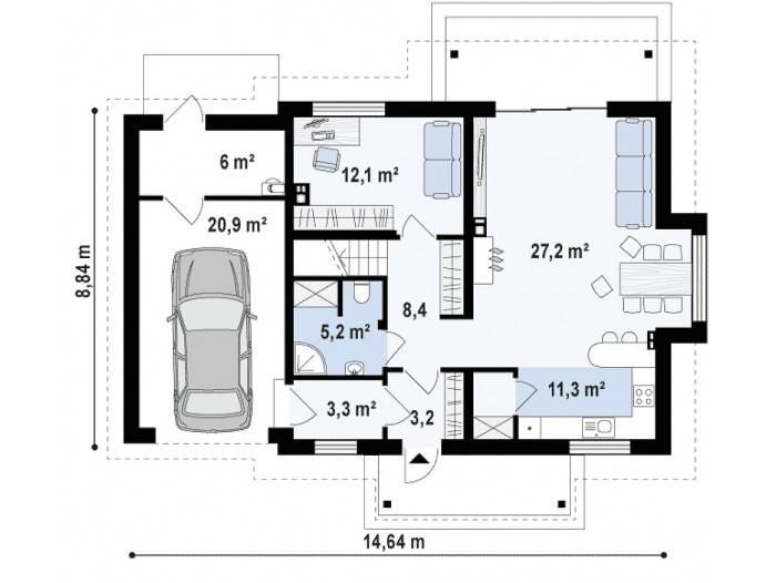 Как построить дом с мансардой и гаражом